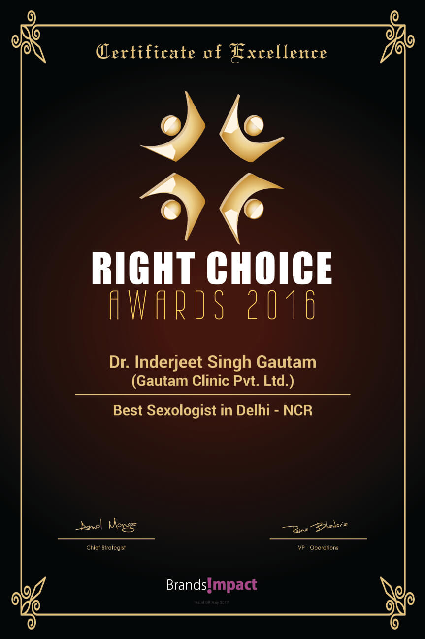Winner of Most Promising Sexologist Doctor in Faridabad Delhi