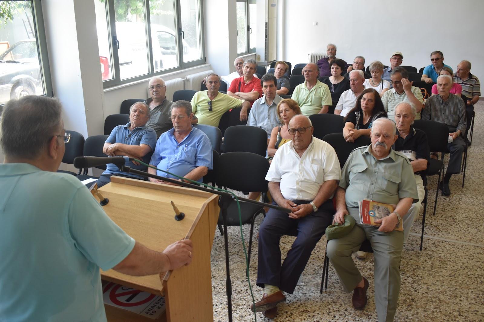Σε συγκέντρωση αντιστασιακών και πολιτικών προσφύγων μίλησε ο Γιώργος Λαμπρούλης