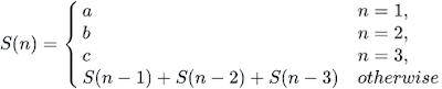 equation calculate nth term hacker rank problem
