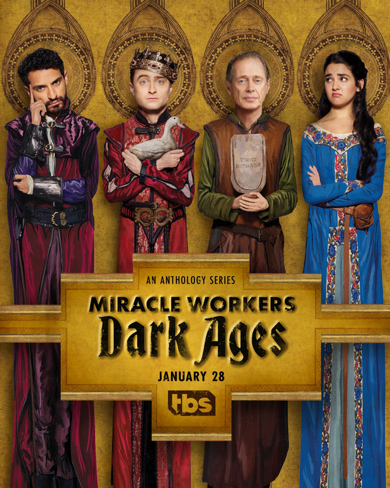 Miracle Workers Dark Ages poster   Daniel J Radcliffe Holland