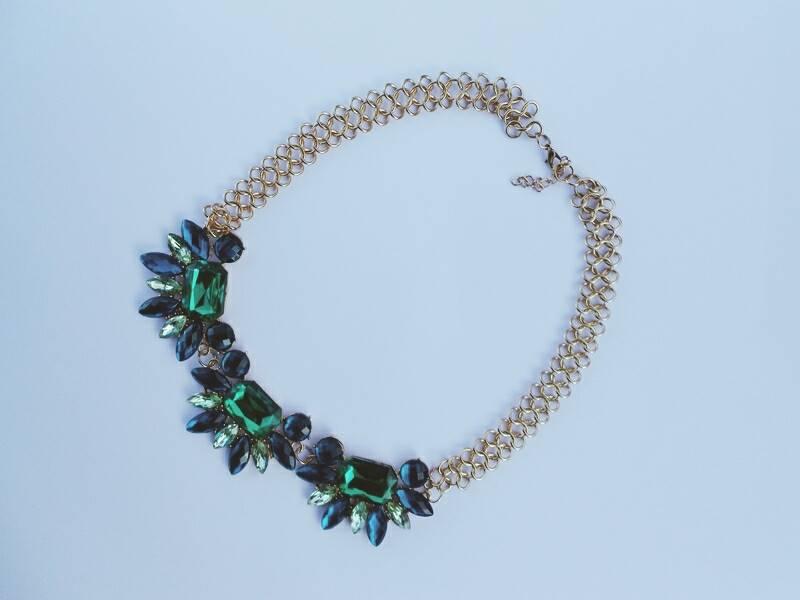 EBAY GOODIES \ Blue & Green Necklace
