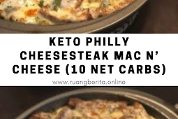 Keto Philly Cheesesteak Mac n' Cheese (10 Net Carbs)