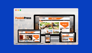 Punjab Press Blogger Template Latest Free Download |