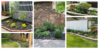 collage of gardens