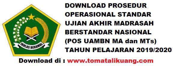 Download POS UAMBN MTs MA Tahun 2020 & POS UN USBN MI MTs MA Tahun Pelajaran 2019/2020