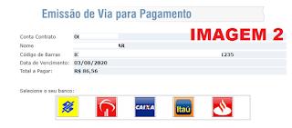 Imagem da Pagina do código de barras para o pagamento da  2 via Cosern