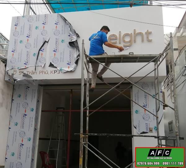 Thi công bảng hiệu Alu- Bảng hiệu Alu chữ nổi tại Phú Quốc