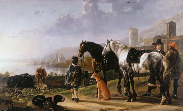 Альберт Кёйп - Всадники и паж-негритенок. ок1652