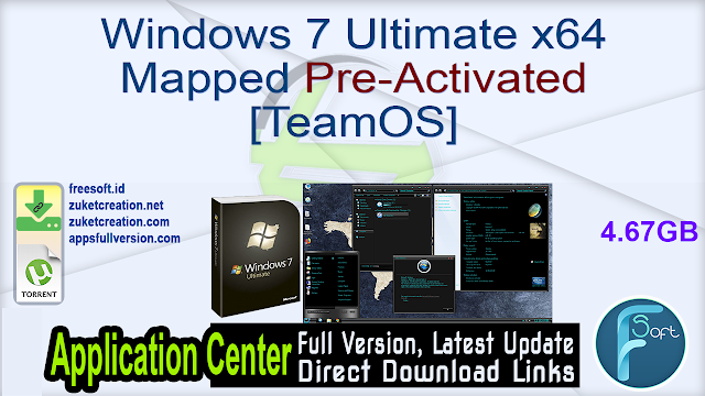 Windows 7 Ultimate x64 Mapped Pre-Activated [TeamOS]