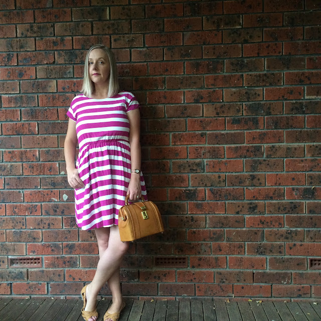 Striped GAP dress | Almost Posh