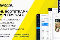 Clean UI HTML - Template Admin Panel Profesional Modern