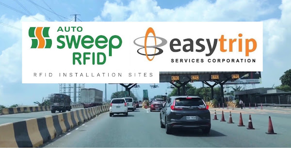 Autosweep and Easytrip RFID tags Installation Sites