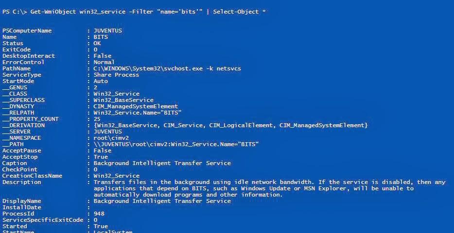 PowerShell : Managing Services - Part2 (using WMI & CIM