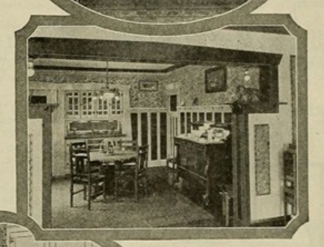 1924 catalog image of dining room of Sears Ashmore model in Cleveland Heights 3064 Corydon Rd James J Humpal testimonial