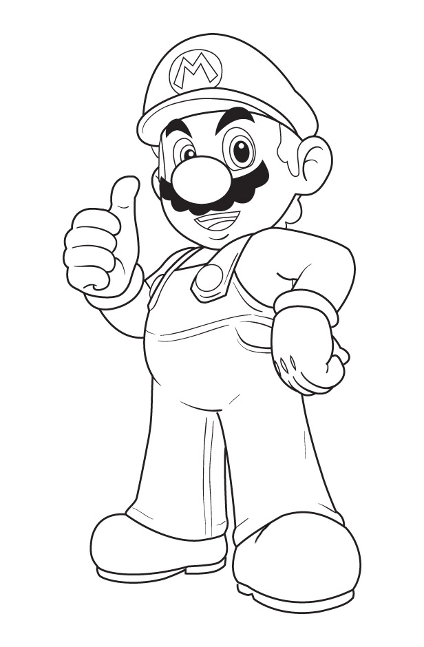 Nesto Flash: alone mario coloring pages