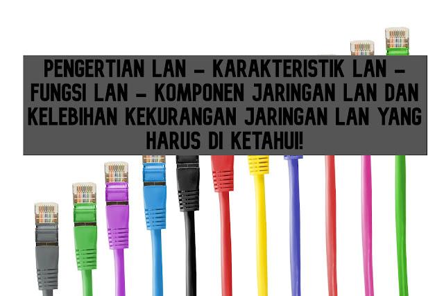 Pengertian LAN,Karakteristik LAN,Fungsi LAN , Komponen Jaringan LAN dan Kelebihan Kekurangan Jaringan LAN yang Harus di Ketahui!