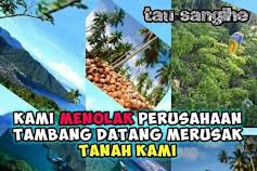 "Ada "" Teroris"" Gaya Baru di Kepulauan Sangihe?  Presiden Jokowi Segera Turun Tangan Batalkan Ijin Operasi PT Tambang Mas Sangihe"