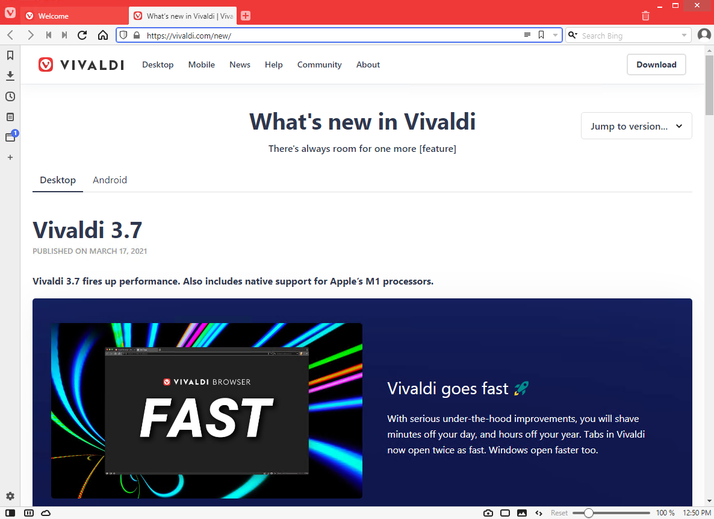 Vivaldi Web Browser 3.7.2218.58