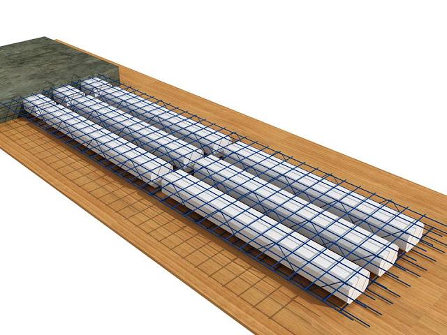 Mô hình sàn phẳng chịu lực 1 phương chính