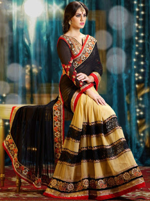 Latest-indian-bridal-lehenga-sarees-2017-with-new-blouse-designs-11