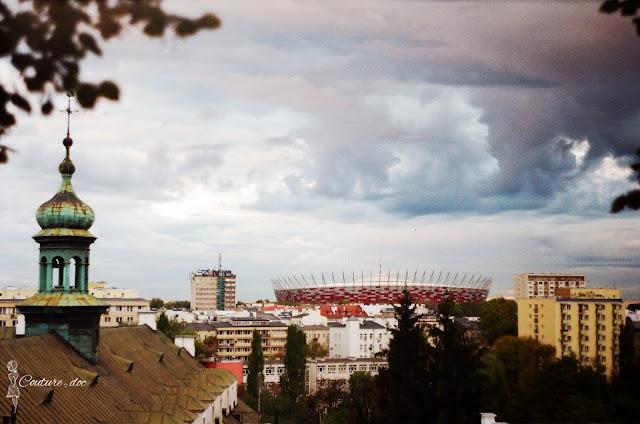 widok na stadion narodowy, Warszawa