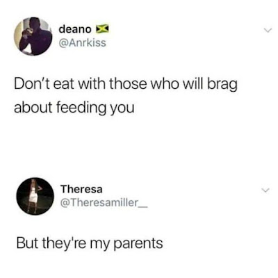 do not eat with those who brag about feeling you