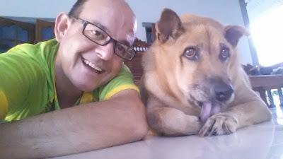 Selfie mit Hund