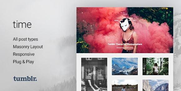 TIME | PHOTOGRAPHY GRID TUMBLR THEME