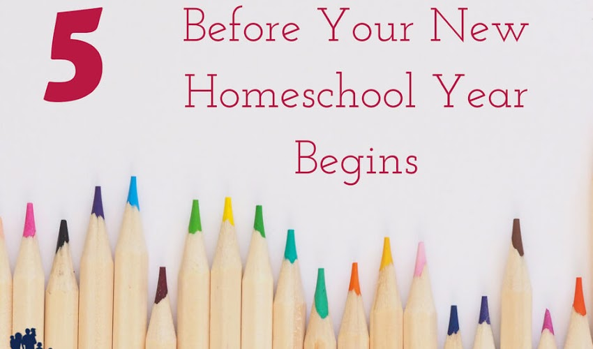 5 Things to Organize Before Your New Homeschool Year Begins