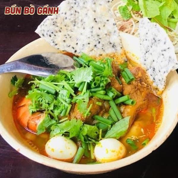 Mì Quảng Tôm,Sườn,Trứng Cút -Quang Nam Noodle with Shrimp,Pork,Quailegg