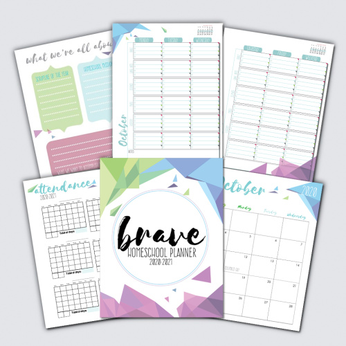 The Brave Homeschool Planner 2020-2021: A Planner by Homeschool Moms for Homeschool Moms #homeschool #homeschoolplanner #homeschoolmom #homeeducation
