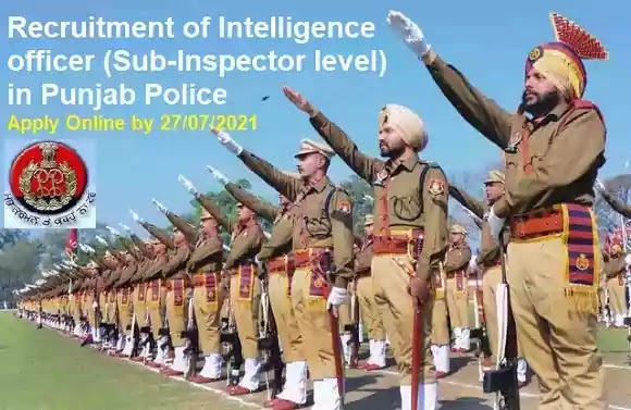 Punjab Police Intelligence Officer Recruitment 2021