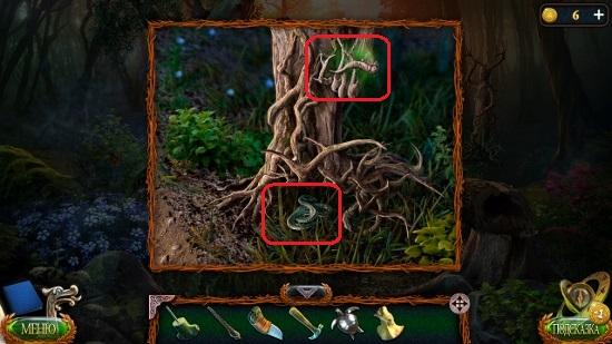 древесная статуя и змея в корнях в игре затерянные земли 4 скиталец