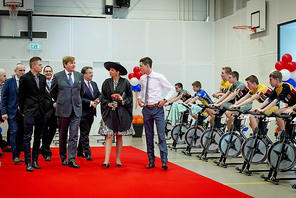 King Willem Alexander  of The Netherlands and Queen Maxima  of The Netherlands visit the province of West-Brabant