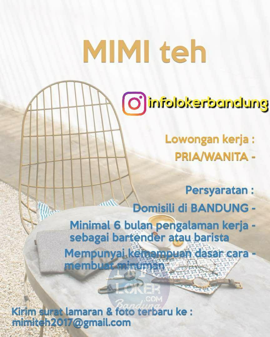 Lowongan Kerja MIMI Teh Bandung November 2017