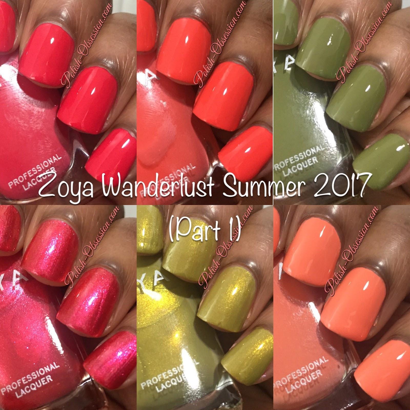Zoya Wanderlust Summer 2017 - Part 1 | Polish Obsession