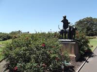 Hunter statue with dogs - Royal Botanic Gardens, Sydney, Australia