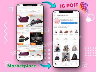 cara upload massal produk ke instagram terjadwal Pc Laptop