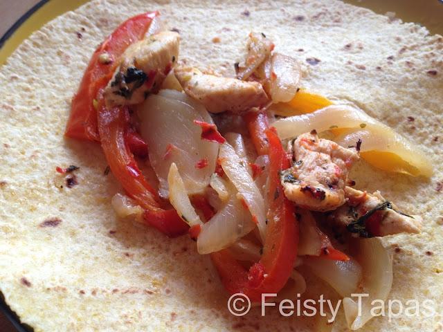 How to wrap a Mexican fajita - step by step