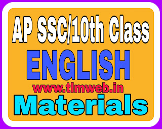 AP SSC/10th Class English materials