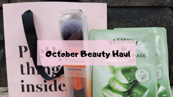 October Beauty Haul