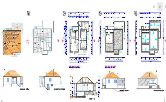plan de maison dwg