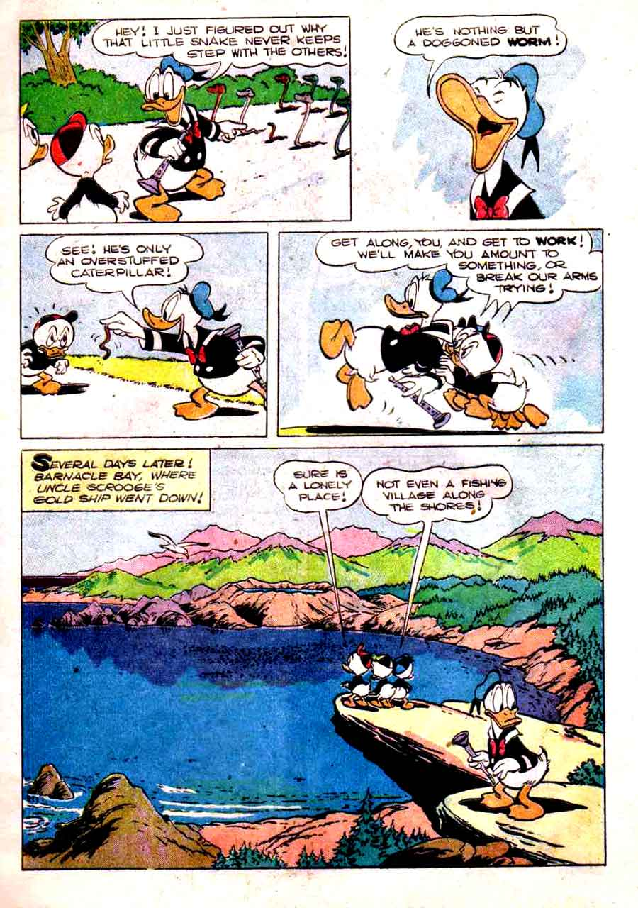 Donald Duck / Four Color Comics v2 #318 - Carl Barks 1940s comic book page art
