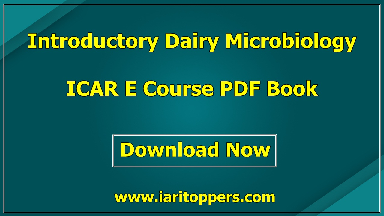 Introductory Dairy Microbiology ICAR e course PDF Download E Krishi Shiksha