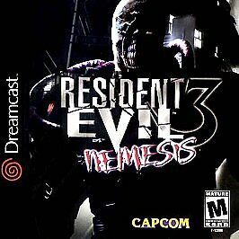 Resident Evil 3 Nemesis Sega Dreamcast horror game cover art