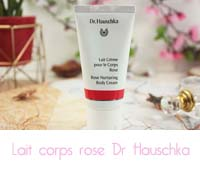 lait corps rose Dr Hauschka