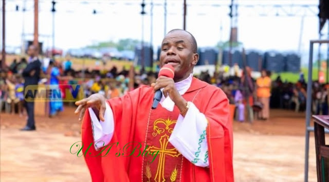 Father Mbaka Storms Imo Governor's Office, Spends Hours Performing Spiritual 'Cleansing'