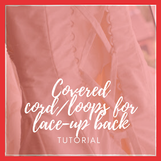 covered cord lace up back tutorial