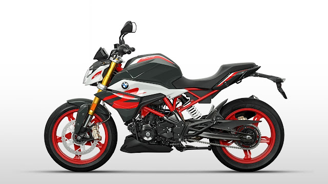 BMW G310R BS6 black and red colour