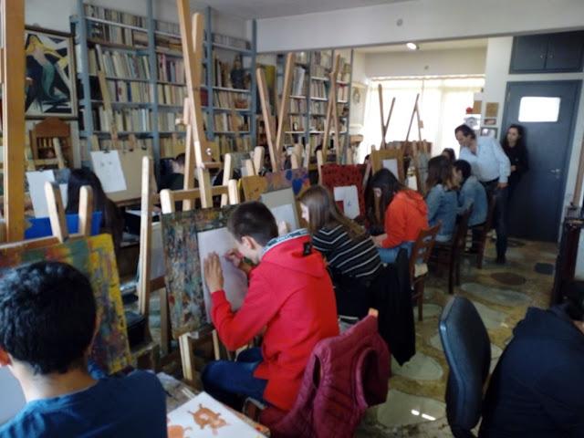 Μαθητές του 3ου Γυμνασίου Άργους στα καβαλέτα του Καλλιτεχνικού Εργαστηρίου